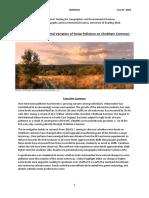 Chobham Common Noise Pollution Report 2018