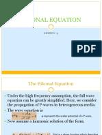 Eikonal Equation