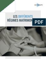 Guide Regimes Matrimoniaux 1