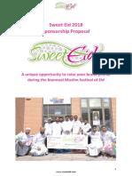 Sweet Eid Sponsorship Proposal 2018