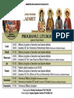 Program Postul Mare 2018