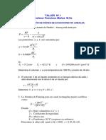 TALLER Nº 1 Solución de Ecuaciones No Lineales