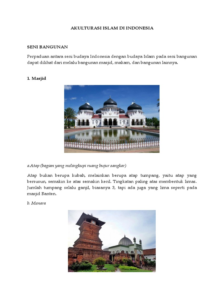 Akulturasi Islam Di Indonesia
