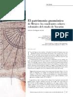 Dialnet-ElPatrimonioGnomonicoDeMexicoLosCuadrantesSolaresC-4947343.pdf