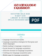 Foreign Languge Acquisition by Gayathri R.