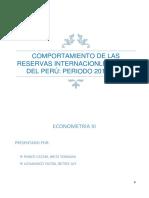 Comportamiento de Las Reservas Internacionles Netas Del Perú