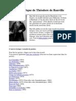 La Poésie Lyrique de Théodore de Banville