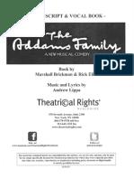 Addams Family Cast Script & Vocal Book