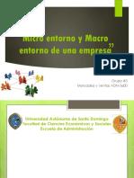 Micro Entorno y Macro Entorno de Una Empresa