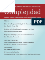 Revista Complejidad 19- Abril - Junio 2013