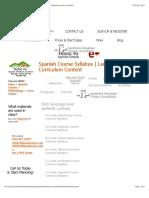 Spanish Course Syllabus | Language Level Curriculum | Spanish Level's Contents