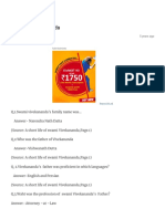 MCQs on Vivekananda – Pujaatrey