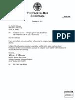 Appendix 4, TFB File No. 2017-30,550 (9D) Florida Bar Complaint Curtis Allen Wilson