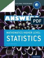 Mathematics HL - ANSWERS - Statistics