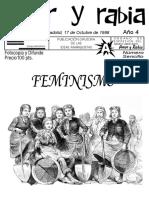 """Revista Amor y Rabia Nr. 50, """"FEMINISMO"""""""