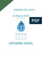 World Water Day 2010 Zaragoza Final Report Spa