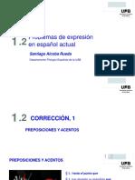 Problemas de expresión en español actual
