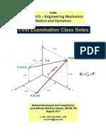 Statics and Dinamics Notes