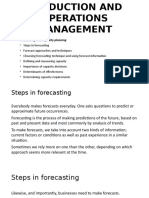 Forecasting and Capacity Planning