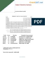 SAT Subject Chemistry Summary