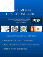 World Mental Health Day 2010 - KAMHA.ORG