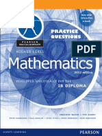 Mathematics HL - Practice Questions
