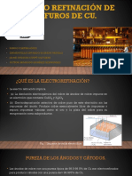 Electrorefinación de Sulfuros de Cu 1