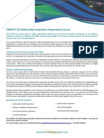 CSWIP 3.1U Underwater Inspection Course Information