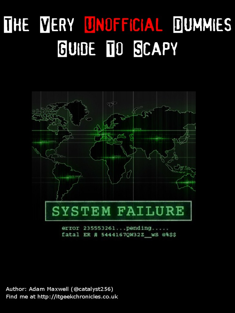 The Very Unofficial Dummies Scapy pdf   Transmission Control