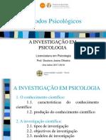 métodos psicológicos cap.1