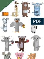Animale din role de hartie