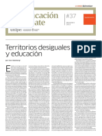 Territorio Desiguales y Educación
