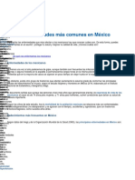 10 Enfermedades Comunes Mexico