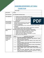 CV Course Plan