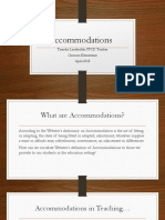 accommodations ppt project