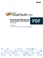 Requirements Management and Visual Studio Team System