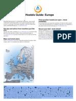 HI Hostels Guide Europe