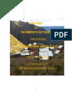 Informe Yacimiento Betaspata