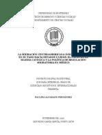 LA MIGRACIÓN CENTROAMERICANA INDOCUMENTADA EN SU PASO HACIA ESTADOS UNIDOS- EL PAPEL DE LA IGLESIA CATÓLICA Y LA POLÍTICA DE REGULACIÓN MIGRATORIA EN MÉXICO