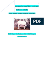 Know About Important Breeds of Cattle and Buffalos in India