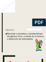 GENERO LÍRICO. 6to Basico Recordar