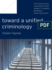 Agnew - 2011 - Toward an Unified Criminology. Integrated Assumptions about Crime, People and Society.pdf