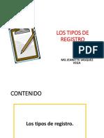 Los Tipos de Registro
