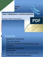 TEORIA 3. Metabolismo Bacteriano