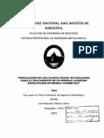 INSTALACION PLANTA PILOTO FLOTACION PARA ORO REFRACTARIO.pdf