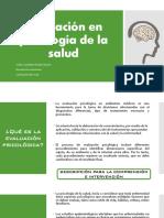 Evaluación en Psicología de La Salud
