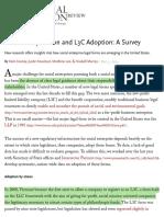 Benefit Corporation and L3C Adoption-A Survey