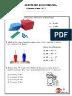 Prueba de Entrada de Matematica