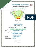 Informe Yacimientos Minerales I