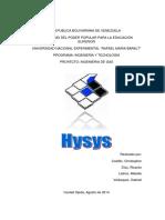 Hysys 2014 Problema